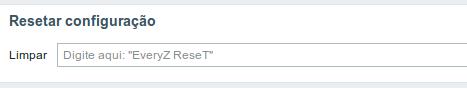 Customizações - Reset